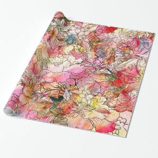 Bosquejo colorido del extracto del estampado de papel de regalo