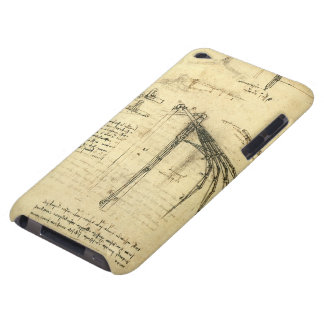 Bosquejo con alas de la máquina de vuelo de iPod touch Case-Mate protector