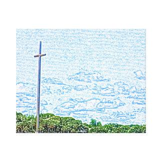 bosquejo cruzado St Augustine la Florida del Lona Envuelta Para Galerias