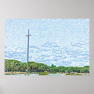 bosquejo cruzado St Augustine la Florida del Impresiones
