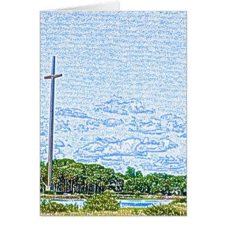 bosquejo cruzado St Augustine la Florida del Felicitacion