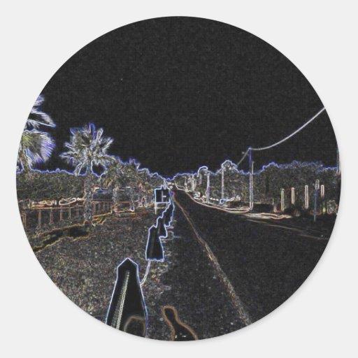 Bosquejo de Algarve Digital Pegatina Redonda