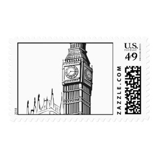 Bosquejo de Big Ben Londres Sellos