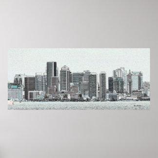 Bosquejo de Boston Posters