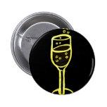 BOSQUEJO de CHAMPÁN de Jill en amarillo en negro Pins