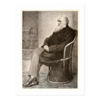 Bosquejo de Charles Darwin, publicado en 1891 Postal