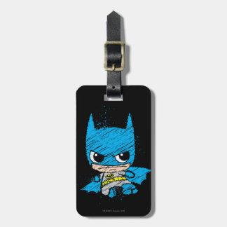 Bosquejo de Chibi Batman Etiquetas Bolsa