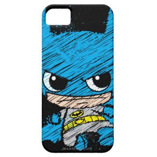 Bosquejo de Chibi Batman iPhone 5 Carcasas