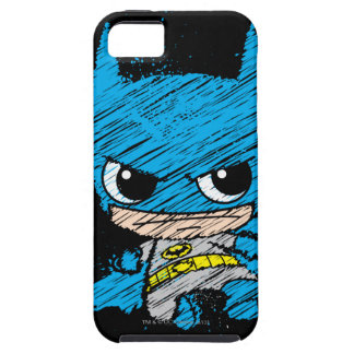Bosquejo de Chibi Batman iPhone 5 Carcasa