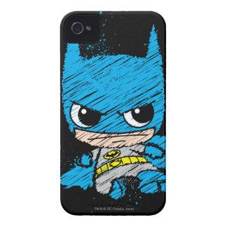Bosquejo de Chibi Batman Case-Mate iPhone 4 Carcasa
