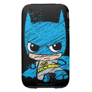 Bosquejo de Chibi Batman iPhone 3 Tough Carcasa