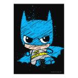 """Bosquejo de Chibi Batman Invitación 5"""" X 7"""""""