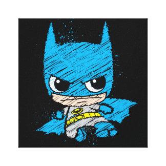 Bosquejo de Chibi Batman Lienzo Envuelto Para Galerias