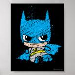 Bosquejo de Chibi Batman Póster