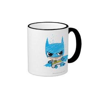 Bosquejo de Chibi Batman Taza De Dos Colores