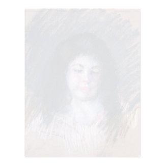 Bosquejo de Francois de Mary Cassatt Plantilla De Membrete