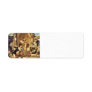 Bosquejo de Henryk Siemiradzki- para la cortina Etiqueta De Remite