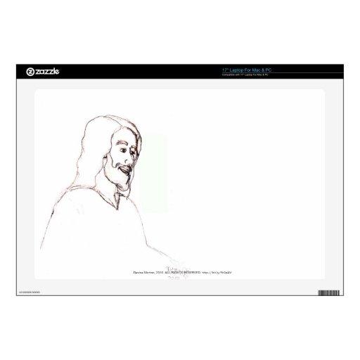 bosquejo de Jesús Calcomanía Para Portátil