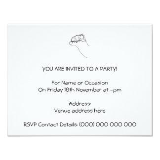 """Bosquejo de la alpaca invitación 4.25"""" x 5.5"""""""