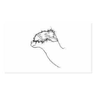 Bosquejo de la alpaca tarjetas de visita
