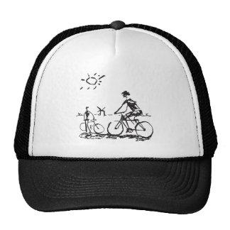 Bosquejo de la bici que monta en bicicleta gorras de camionero