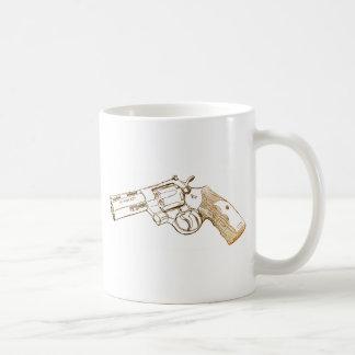 Bosquejo de la botella doble del pitón 357 del pot tazas de café