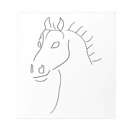 Bosquejo de la cabeza de caballo bloc de notas