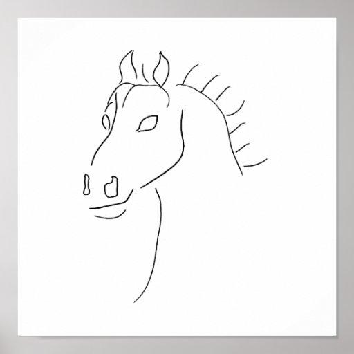 Bosquejo de la cabeza de caballo impresiones