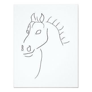 Bosquejo de la cabeza de caballo comunicado personal