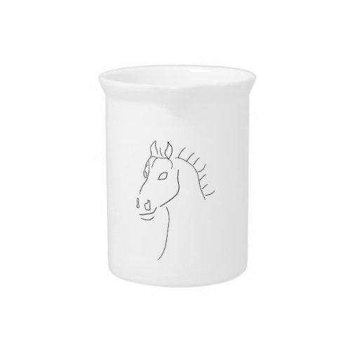 Bosquejo de la cabeza de caballo jarras