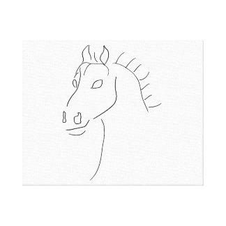 Bosquejo de la cabeza de caballo lona envuelta para galerias