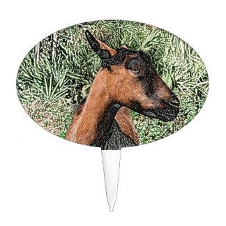 bosquejo de la cabra de la gama del oberhasli figuras para tartas