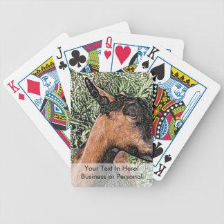 bosquejo de la cabra de la gama del oberhasli baraja cartas de poker