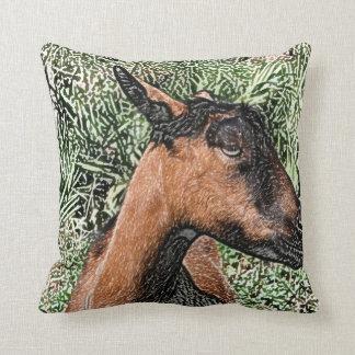 bosquejo de la cabra de la gama del oberhasli cojín decorativo