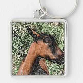 bosquejo de la cabra de la gama del oberhasli llavero