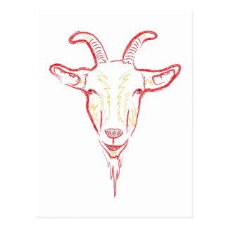 bosquejo de la cabra postal