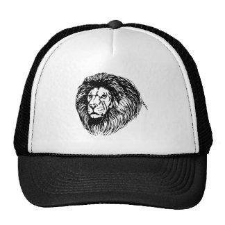 Bosquejo de la cara del león gorras de camionero