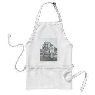 Bosquejo de la casa de Parker - orilla del jersey Delantal