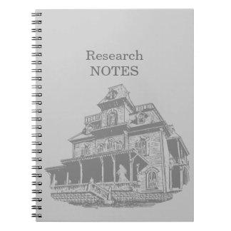 Bosquejo de la casa encantada note book