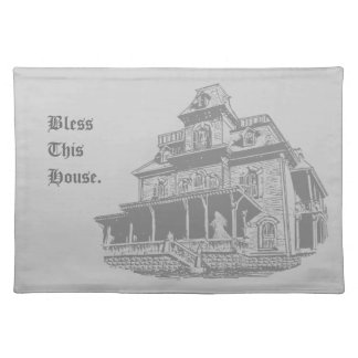 Bosquejo de la casa encantada mantel individual