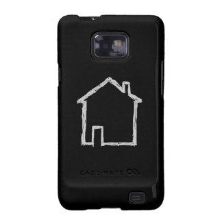 Bosquejo de la casa. Gris y negro Samsung Galaxy S2 Carcasa