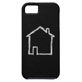 Bosquejo de la casa. Gris y negro Funda Para iPhone SE/5/5s