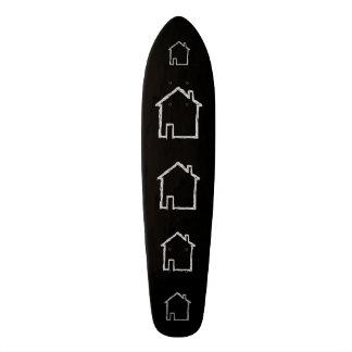 Bosquejo de la casa. Gris y negro Skateboard