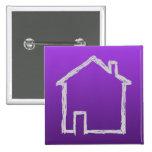Bosquejo de la casa. Gris y púrpura Pin
