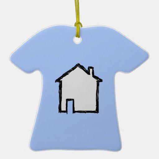 Bosquejo de la casa. Negro y azul Adornos