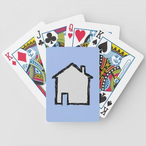 Bosquejo de la casa. Negro y azul Barajas De Cartas