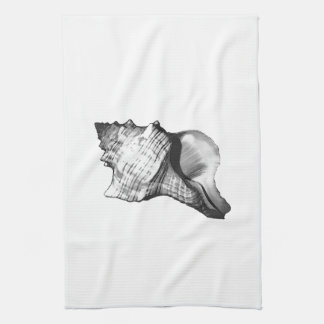 Bosquejo de la cáscara de la concha - sombras de toalla de cocina