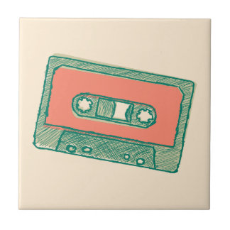 Bosquejo de la cinta de audio azulejo cuadrado pequeño