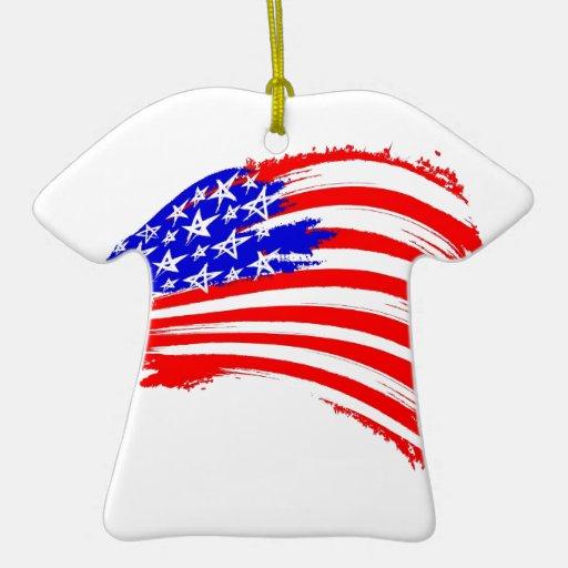 bosquejo de la E.E.U.U.-bandera Adorno De Cerámica En Forma De Camiseta