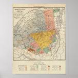 Bosquejo de la encuesta sobre Adirondack - mapa de Posters